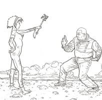 Shaolin Cowboy by Geof Darrow Comic Art