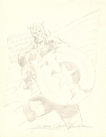 Captain America by S. Clarke Hawbaker Comic Art