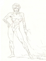 Power Girl by Bart Sears Comic Art