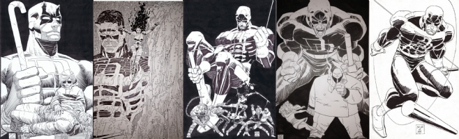 DAREDEVIL: the man without fear completed #1 #2 #3 #4 #5 Comic Art