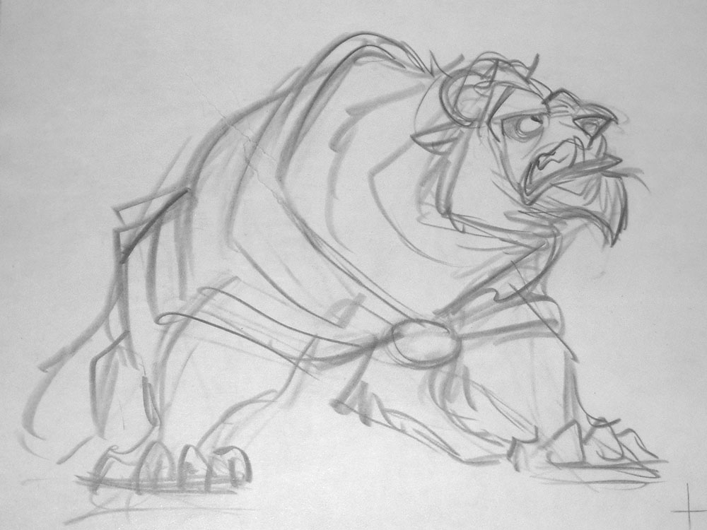 Glen Keane - Beauty & the Beast - Production Drawing Comic Art