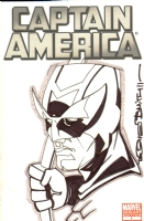 Tod Allen Smith Captain America Hawkeye Cover Sketch Chicago Comic Con 2011 Comic Art