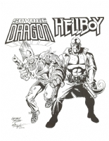 George Tuska Savage Dragon and Hellboy Comic Art