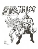 George Tuska Savage Dragon and Hellboy Comic Art