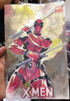 X-Men - Thony Silas - Deadpool - CGC SS Comic Art