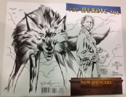 The Heroic Age - Mark Buckingham, Bill Willingham, Andrew Pepoy, Steve Leialoha - Bigby Wolf, Fables - CGC SS Comic Art