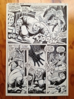 ROMITA Sr - ASM 69 p 11 Spidey fighting Kingpin !!! Grail page Comic Art