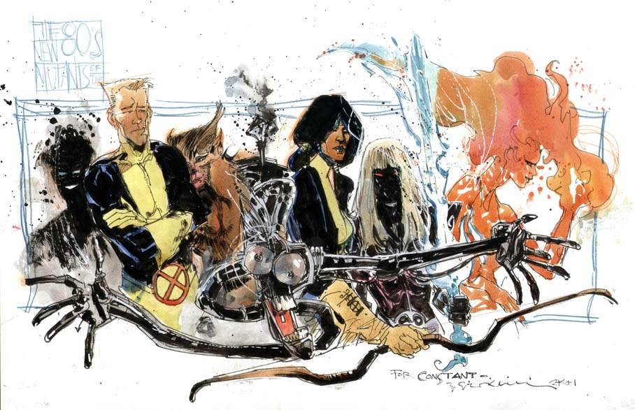Bill Sienkiewicz - The New Mutants Comic Art
