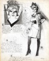 Bill Sienkiewicz - Dazzler Model Sheet Comic Art