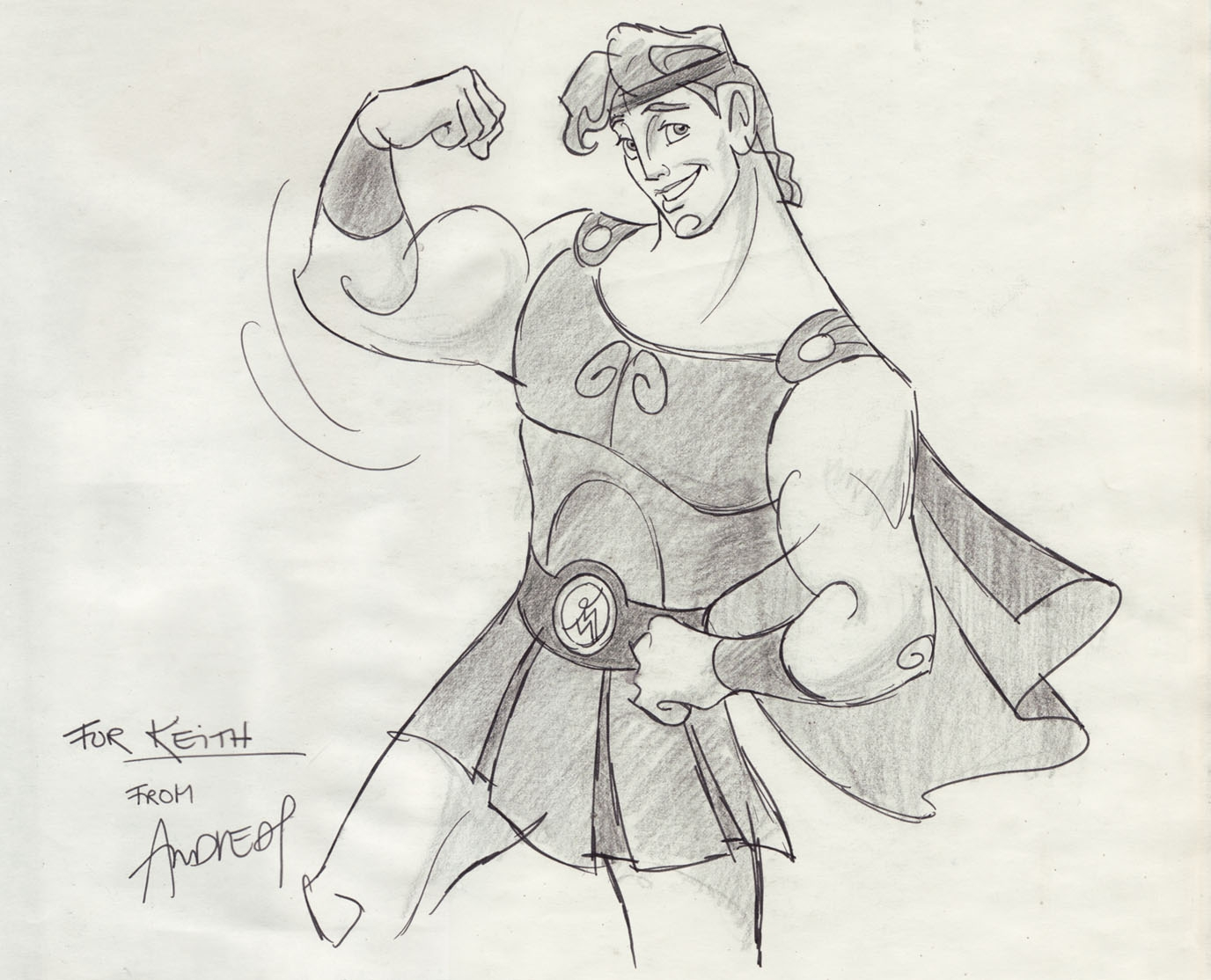 Andreas Deja - Hercules (Disney) Comic Art