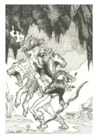 Hades prelim - Julie Bell Comic Art