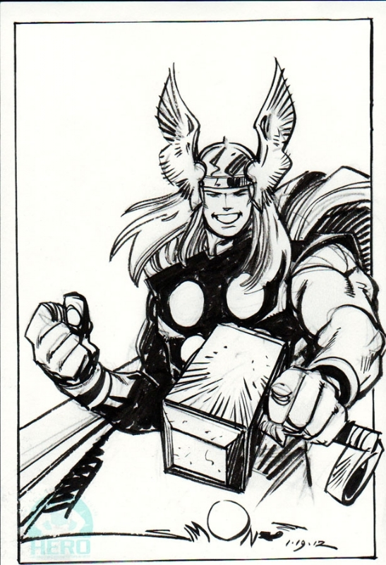 Walt Simonson - Thor - Hero Initiative Comic Art