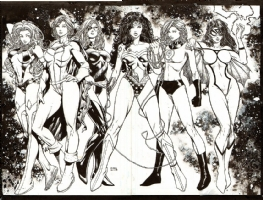 David Finch - The Heroines of Marvel & DC Comic Art