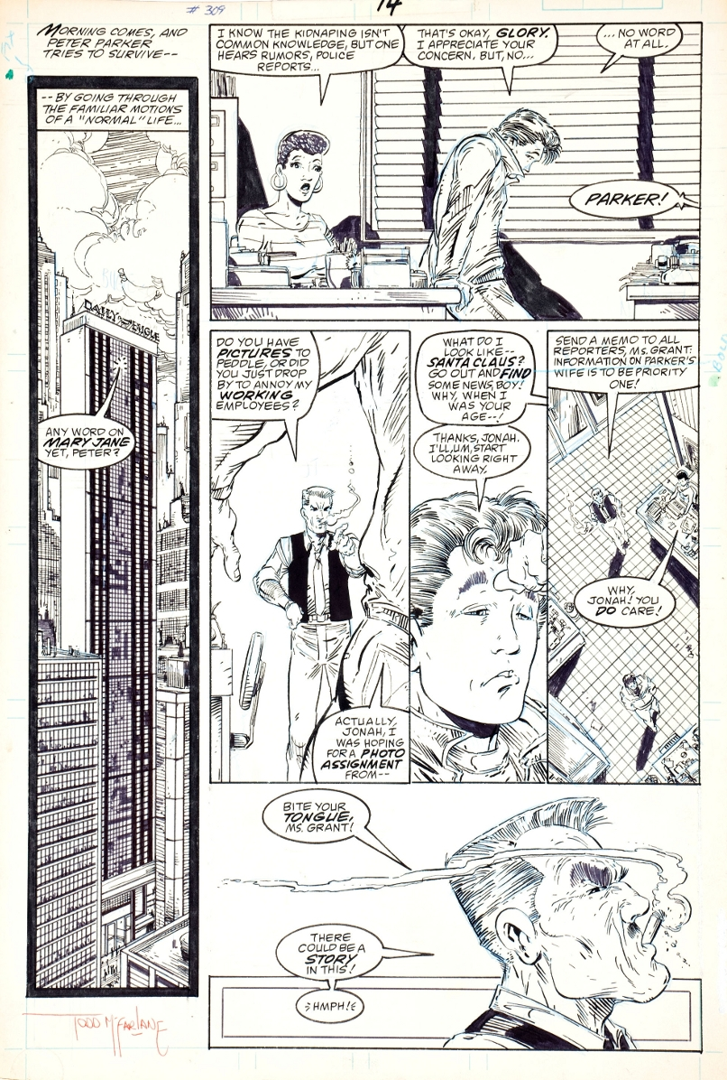Amazing Spider-Man #309 p. 14 - Todd McFarlane Comic Art