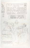 Tales of Suspense #78 Unpublished Alternate Cover - Jack Kirby  Comic Art