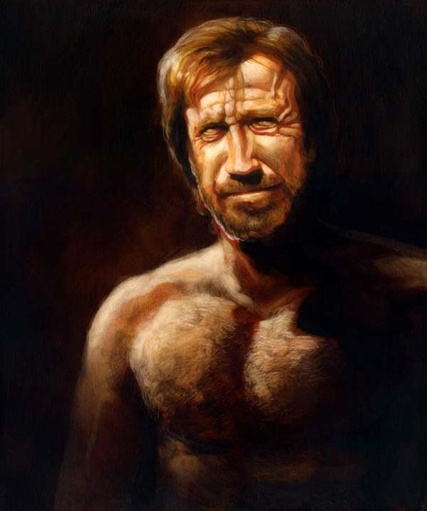Brandon Bird, Painter of Might!  - Chuck Norris -  Arete  Comic Art