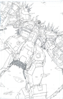 TF Unicron by Joe Ng Comic Art