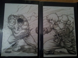 Ryu vs Ken - Joe Ng (double) Comic Art