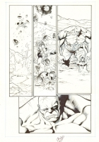Incredible Hulk #12 p16 (inks): Hulk in the snow Comic Art