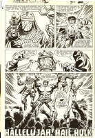 Incredible Hulk Annual #12 p30: Hallelujah! Hail, Hulk! Comic Art