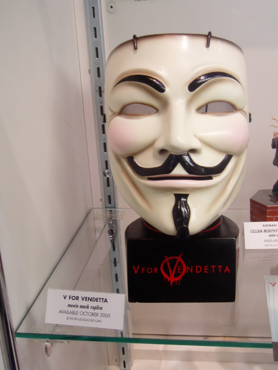 Guy Fawkes mask Comic Art