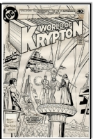 1979 ROSS ANDRU DICK GIORDANO #1 SUPERMAN WORLD OF KRYPTON ORIG COVER ART! Comic Art