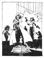 Tim Sale: Tales of the Slayers cover sketch, Comic Art