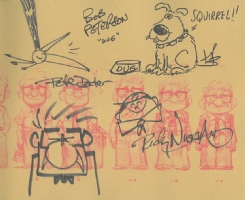 Kevin, Dug, Carl, and Russell sketches (Pixar's Up) for Art to Heart , Comic Art