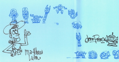 Art of Toy Story 3 sketches, Comic Art