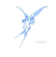 Claire Wendling: Bird (Daisies) Comic Art