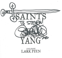 Saints sketch by Gene Yang, San Jose 2013, Comic Art