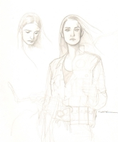 Ryan Sook: BPRD Liz Sherman pencil prelim Comic Art