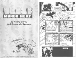 Alien (Alien: Mondo Heat) sketch by Ronnie del Carmen, WDFM San Francisco 2014, Comic Art