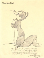 Chuck Jones: Rikki-Tikki-Tavi pencil drawing 1976, Comic Art