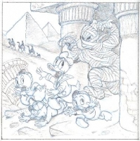 Carl Barks: Donald Duck and the Mummy's Ring, Comic Art