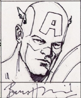 008 Captain America, Bryan Hitch Comic Art