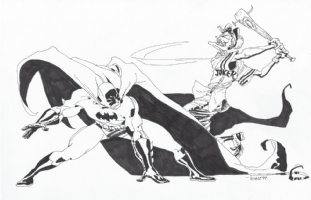Batman vs. Joker - Tim Sale Comic Art