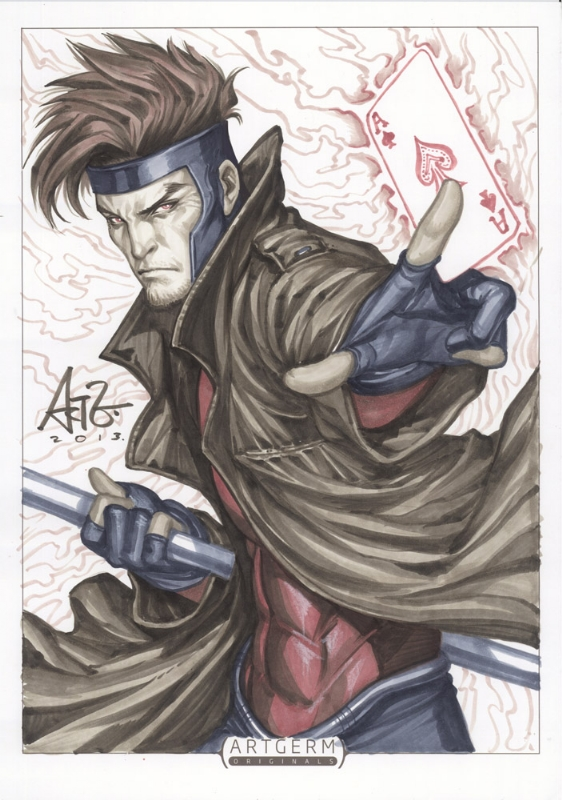 Gambit Comic Art Gambit ( x-men ) comic art