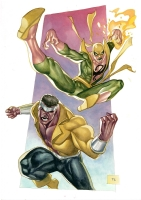 Iron Fist and Luke Cage Comic Art