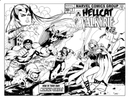 Hellcat / Valkyrie #1:  With Friend And Foe Against Them ... ! Comic Art