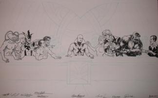 Last Supper of the Legion of Doom Comic Art