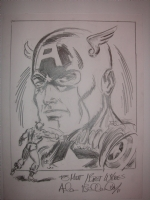 Captain America by Allen Bellman Comic Art