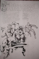 Avengers #4 Recreation Jam Piece Comic Art