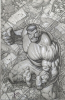 Dale Keown - Hulk #1 Cover Comic Art