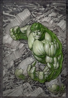 Dale Keown - Hulk #1 Cover Layout Comic Art