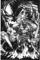 Dale Keown - PITT Promo Poster art Comic Art