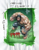 Dale Keown - PITT card color guide Comic Art