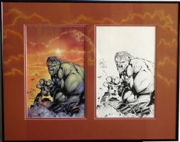 Billy Tan - Hulk (frame) Comic Art