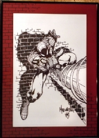 Joe Madureira - Spider-Man Pin-Up (frame) Comic Art