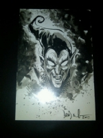 Xmas card with the Green Goblin Comic Art
